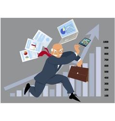 Business ninja vector image