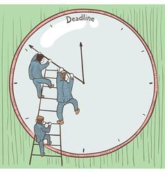 Businessmen prevent the deadline vector image