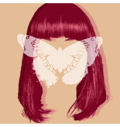 Butterfly portrait vector