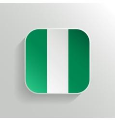 Button - Nigeria Flag Icon vector image