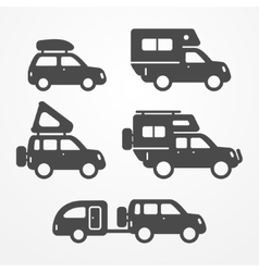 Camping car set vector