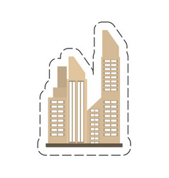 cartoon building city real estate vector image