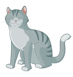 Cartoon smiling cat vector