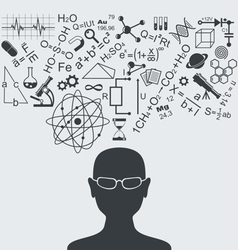 Clever head vector image