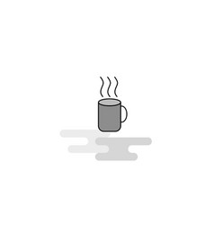 coffee web icon flat line filled gray icon vector image