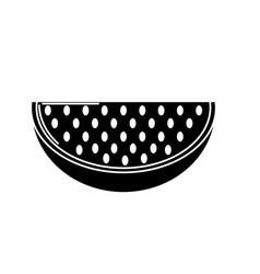 Contour delicios slice watermelon fruit food vector