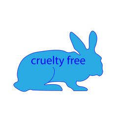 Cruelty free mark rabbit sign vector