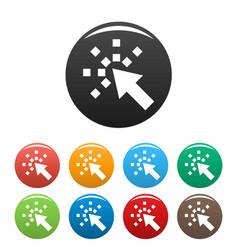 cursor internet icons set color vector image