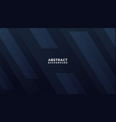 dark blue abstract geometric background modern vector image