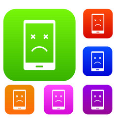 dead phone set color collection vector image