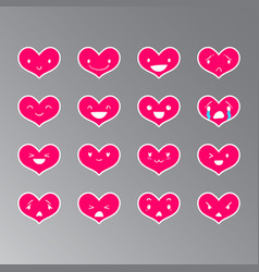 Emoticons heart color 17 vector