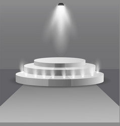 empty stage podium with spotlights in blank studio vector image