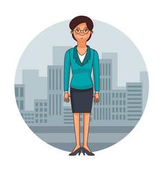 executive lawyer cartoon vector image