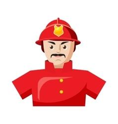 Fireman icon in cartoon style vector image