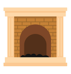 fireplace for fire icon cartoon style vector image