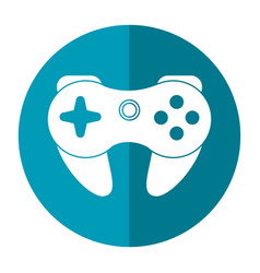 gamepad control console shadow vector image