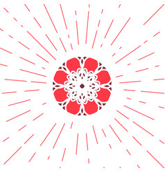 Geometric sun emblem vector
