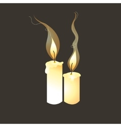 graphic image of candles vector image