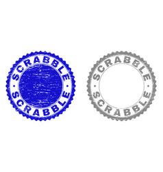 Grunge scrabble textured watermarks vector