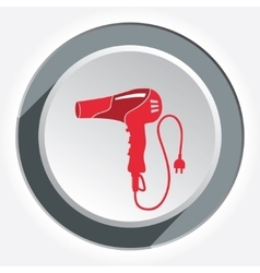 Hairdryer blow dryer with two-pin plug icon vector image