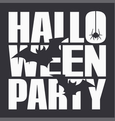 halloween party night poster on black background vector image