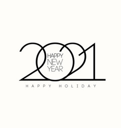 happy new year 2021 celebration background vector image