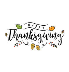 happy thanksgiving day typography vector image