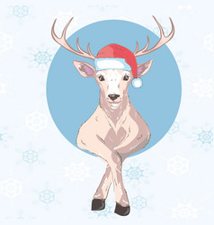 holiday symbol icon colorful cute reindeer in vector image