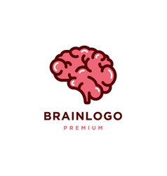 Human brain logo design flat icon vector