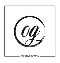 initial letter og logo template design vector image