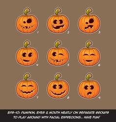 jack o lantern cartoon 9 funny n goexpressions vector image
