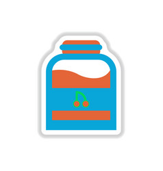 Label icon on design sticker collection candy in vector