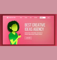 landing web page design website business vector image