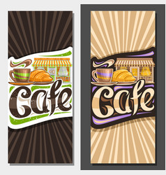 layouts for street caf vector image