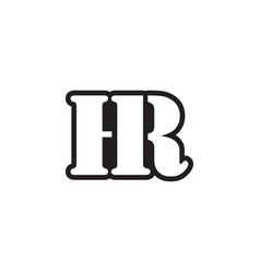 letter serif h r vector image