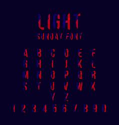 Light sunday font template design vector