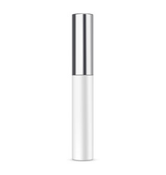 lipstick balm with metallic cap mockup isolated vector image