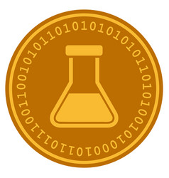 Liquid flask digital coin vector