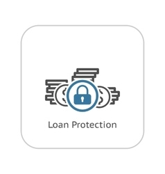 Loan Protection Icon Flat Design vector image