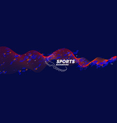 Modern poster for sports vector