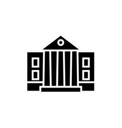 museum - parliament icon vector image