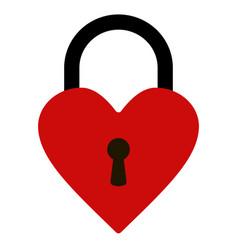 padlock heart shape heart lock vector image