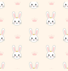 pattern with bunnies princesses vector image