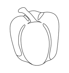 Pepper icon outline Singe vegetables icon from vector