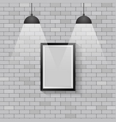 picture frame with ceiling lights vector image