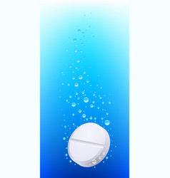 pill in water on white background vector image