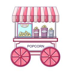 popcorn street shop icon cartoon style vector image