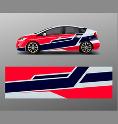 Racing car wrap abstract strip shapes for company vector