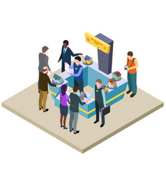 real estate exhibition 3d isometric vector image