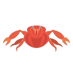 red crab sea life marine icon vector image